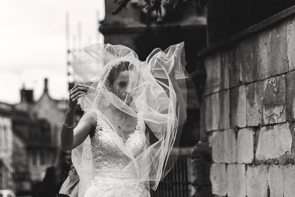 veil blowing wind