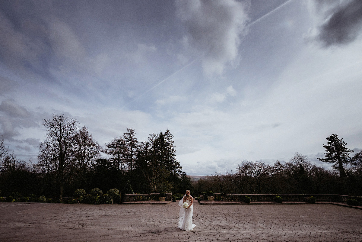 bride beneath sky