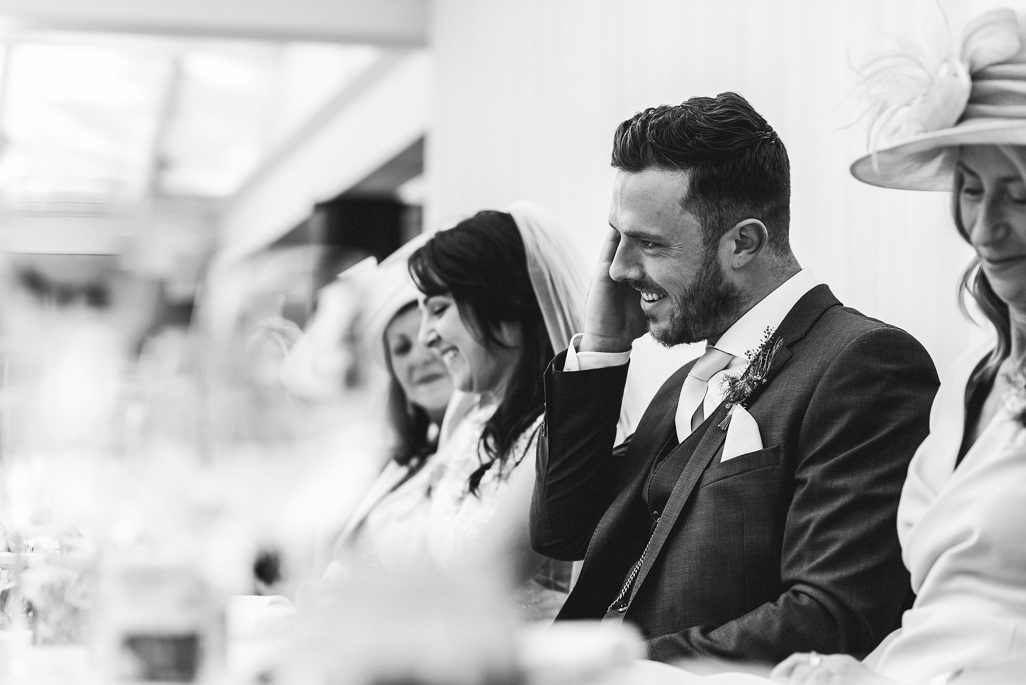 groom cringes during speech