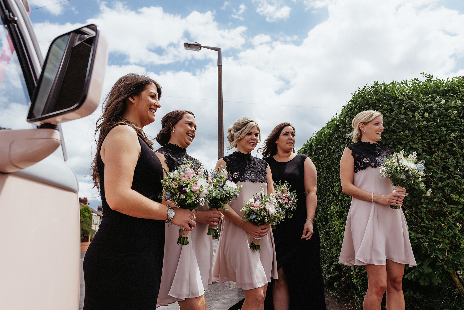bridesmaids wait for bride
