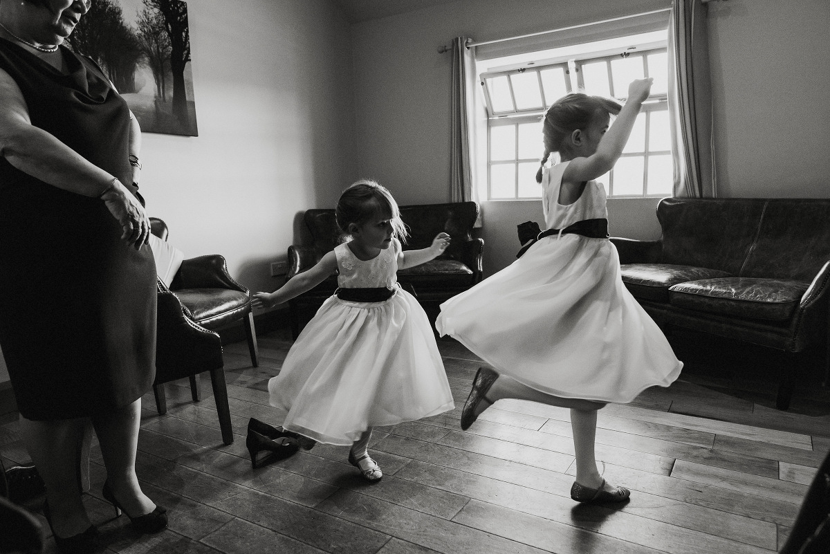 dancing flower girls