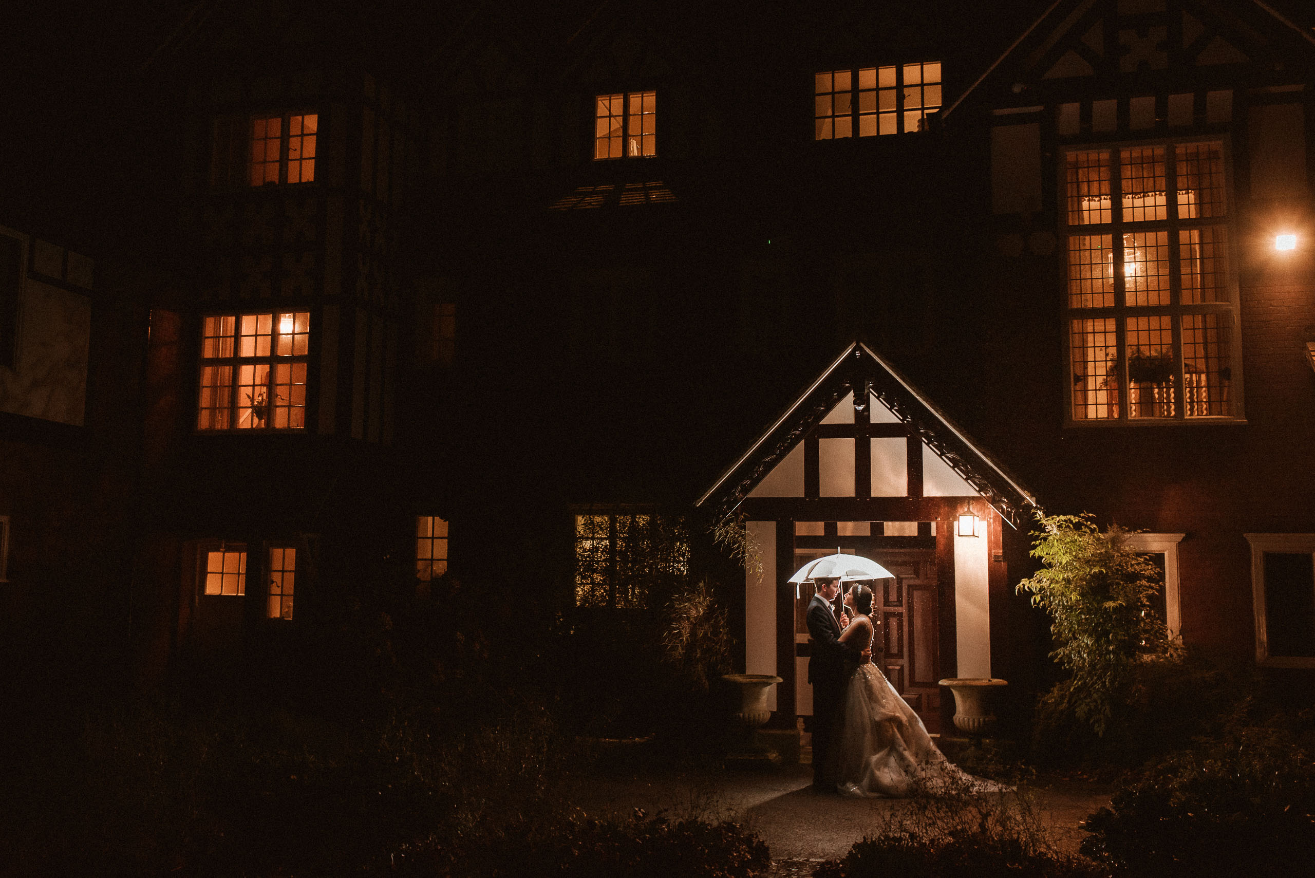 Abbeywood Estate Wedding Photography outside in the rain