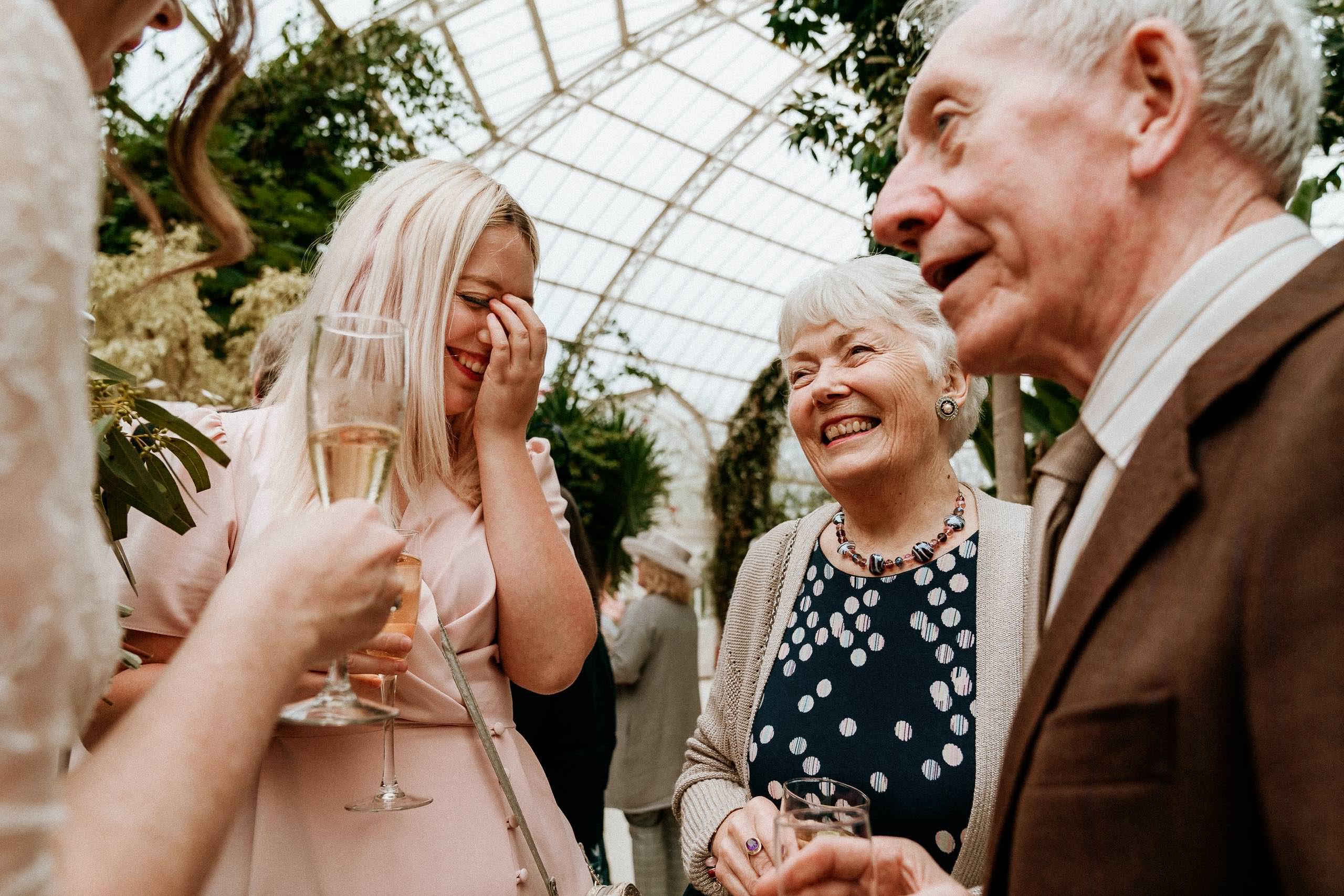 wedding guest cringing
