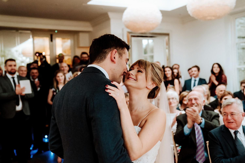 newlyweds at Woodhill Hall wedding photography