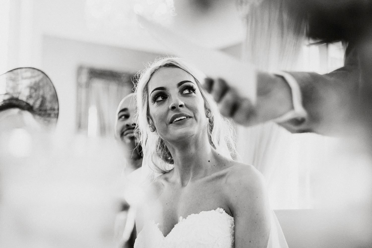 bride watches dad