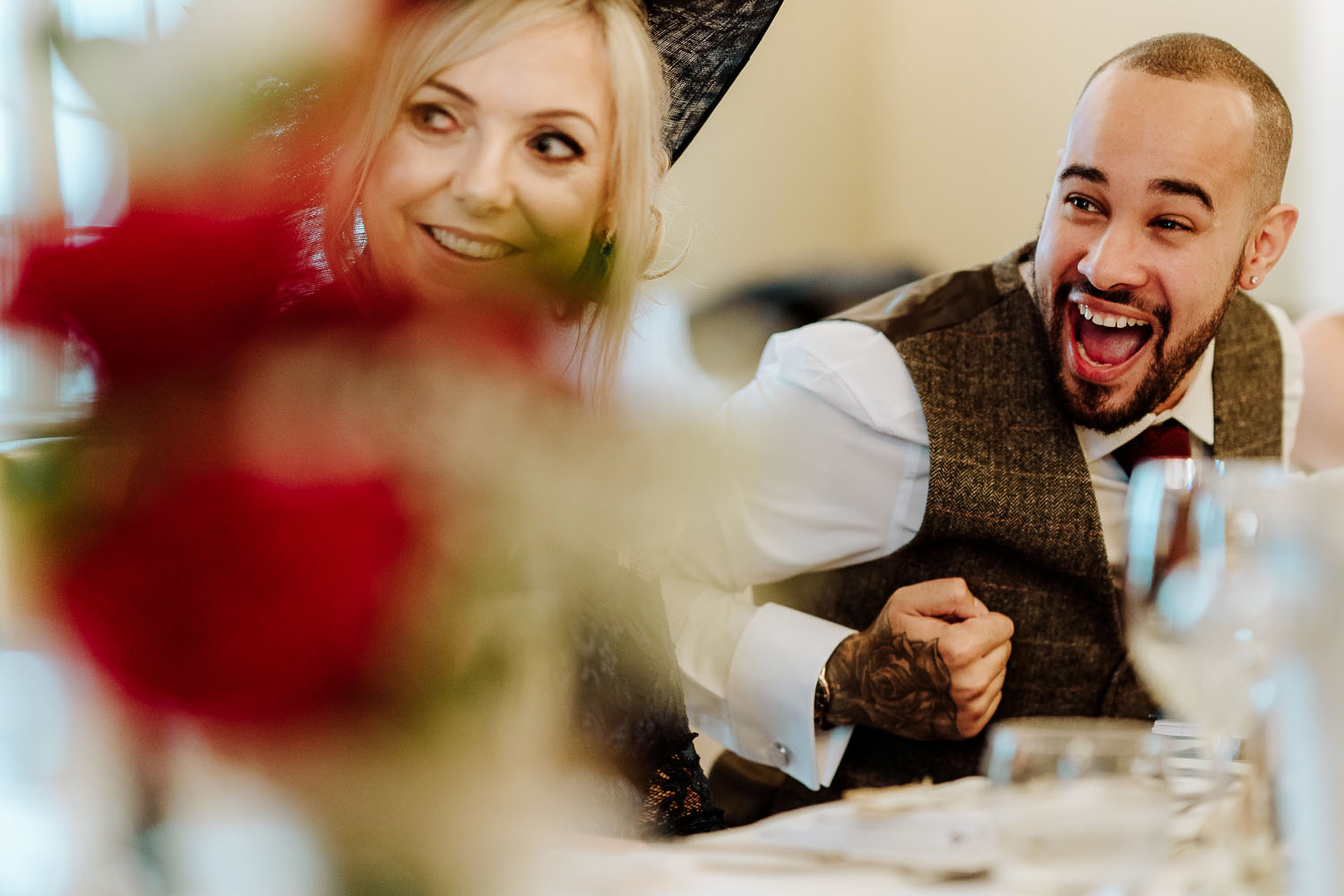 groom reaction to best man