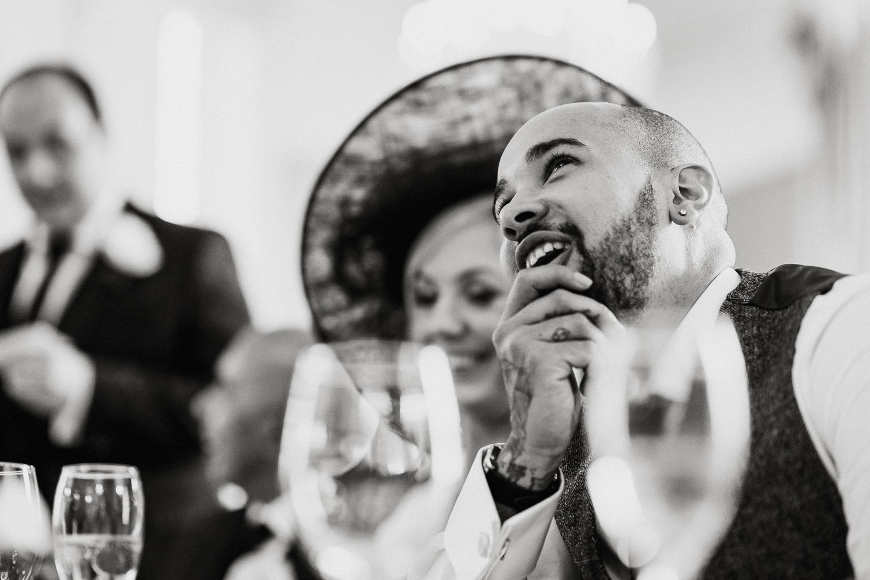 groom cringes at speech