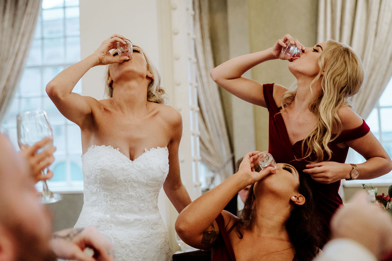 bridal squad doing shots Liverpool