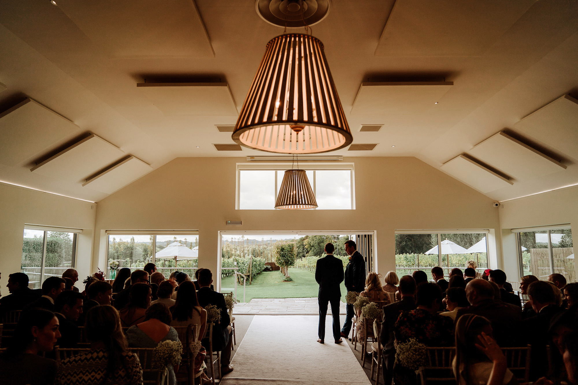 the ceremony room inside Llanerch vineyard