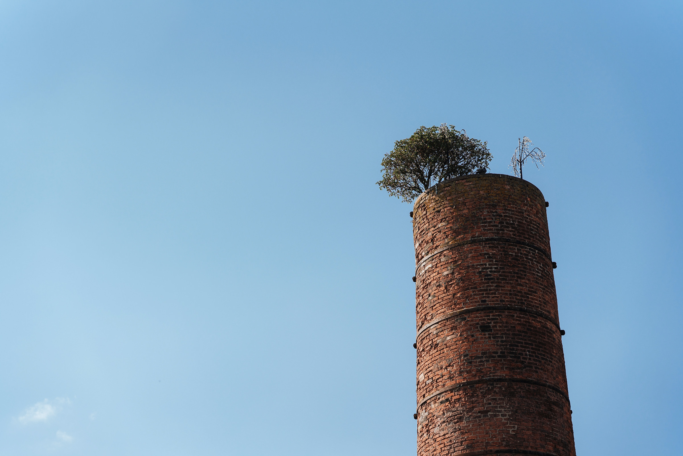 Industrial chimney at Holmes Mill