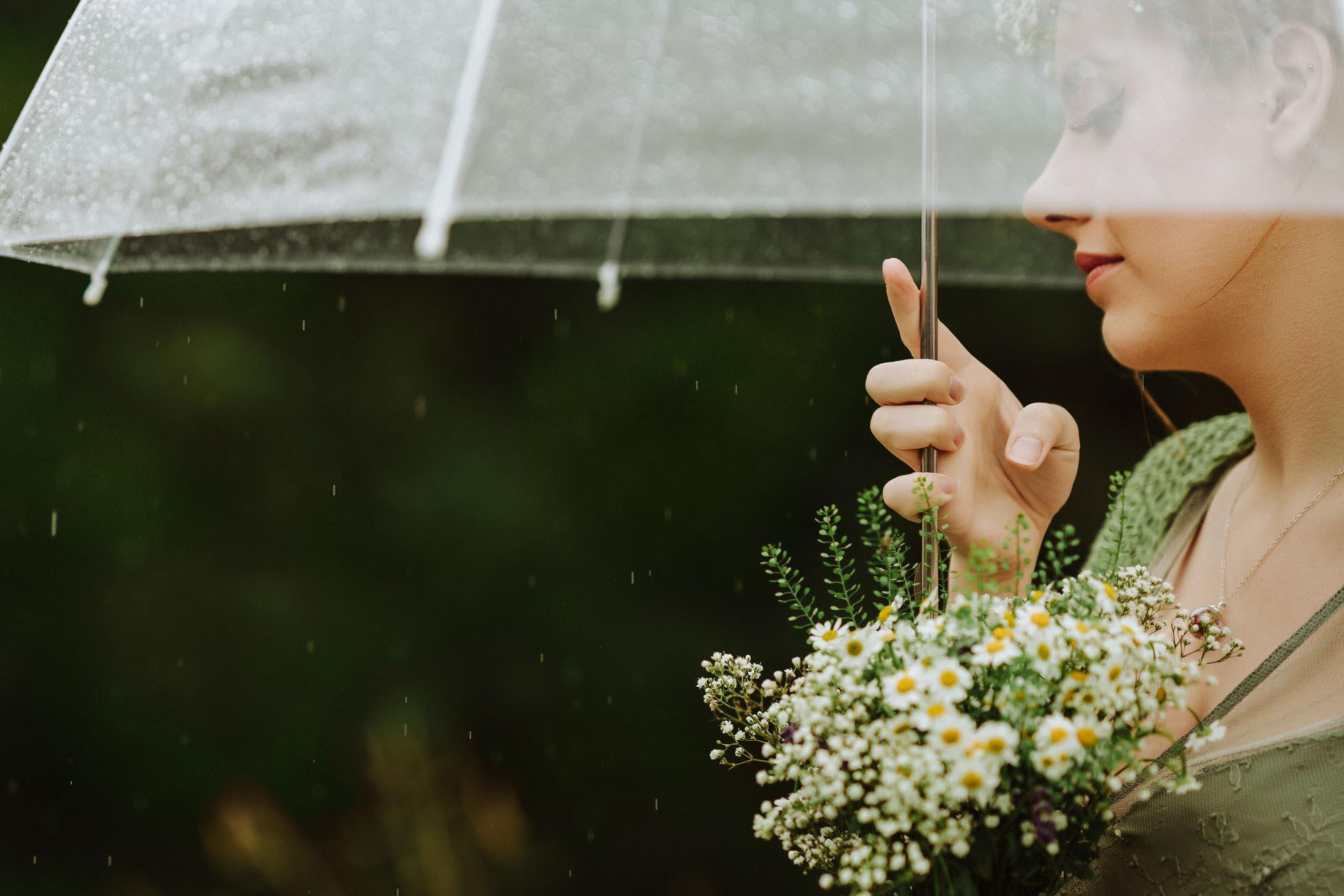 rain on bridesmaid