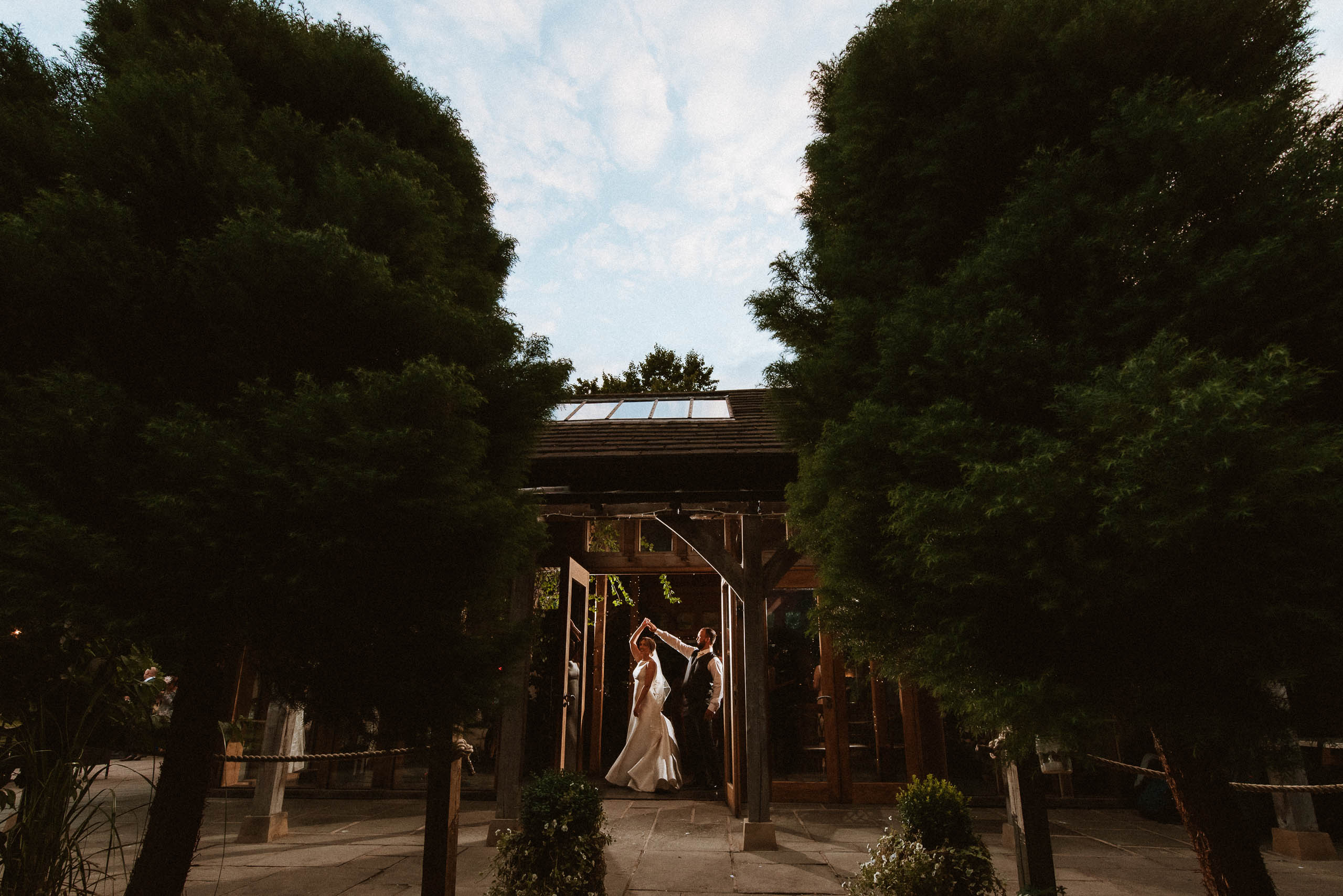 creative photography at Cheshire wedding venue